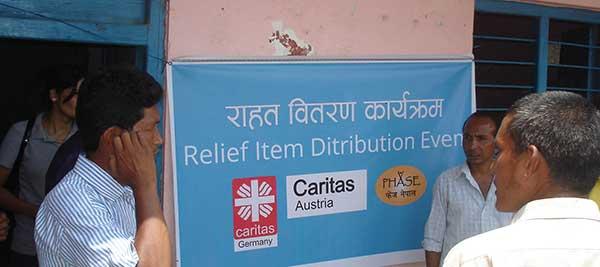 Kooperation mit der Caritas