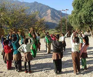Mädchen beim Workshop