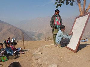 Unterricht in Bajura