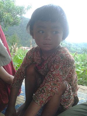 Mädchen in Manbu, Gorkha