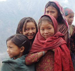 Kinder in Humla