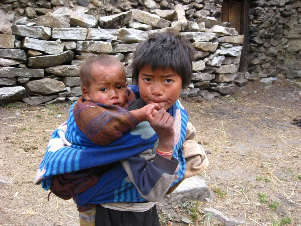 Child caring for sibling