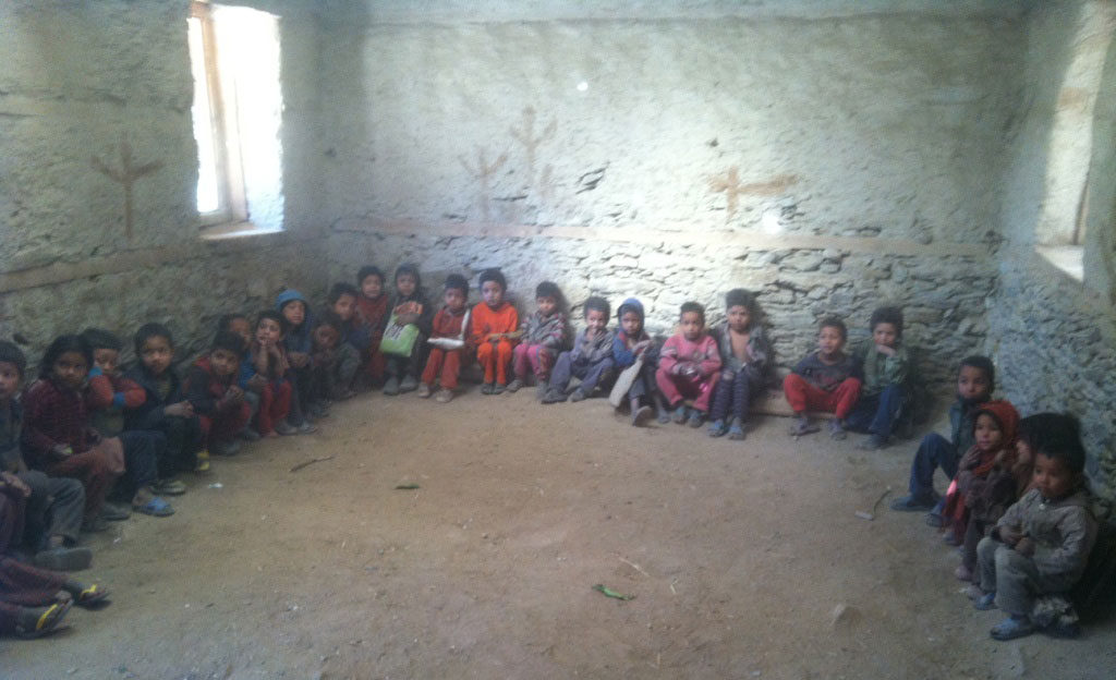 Typical classroom in Humla